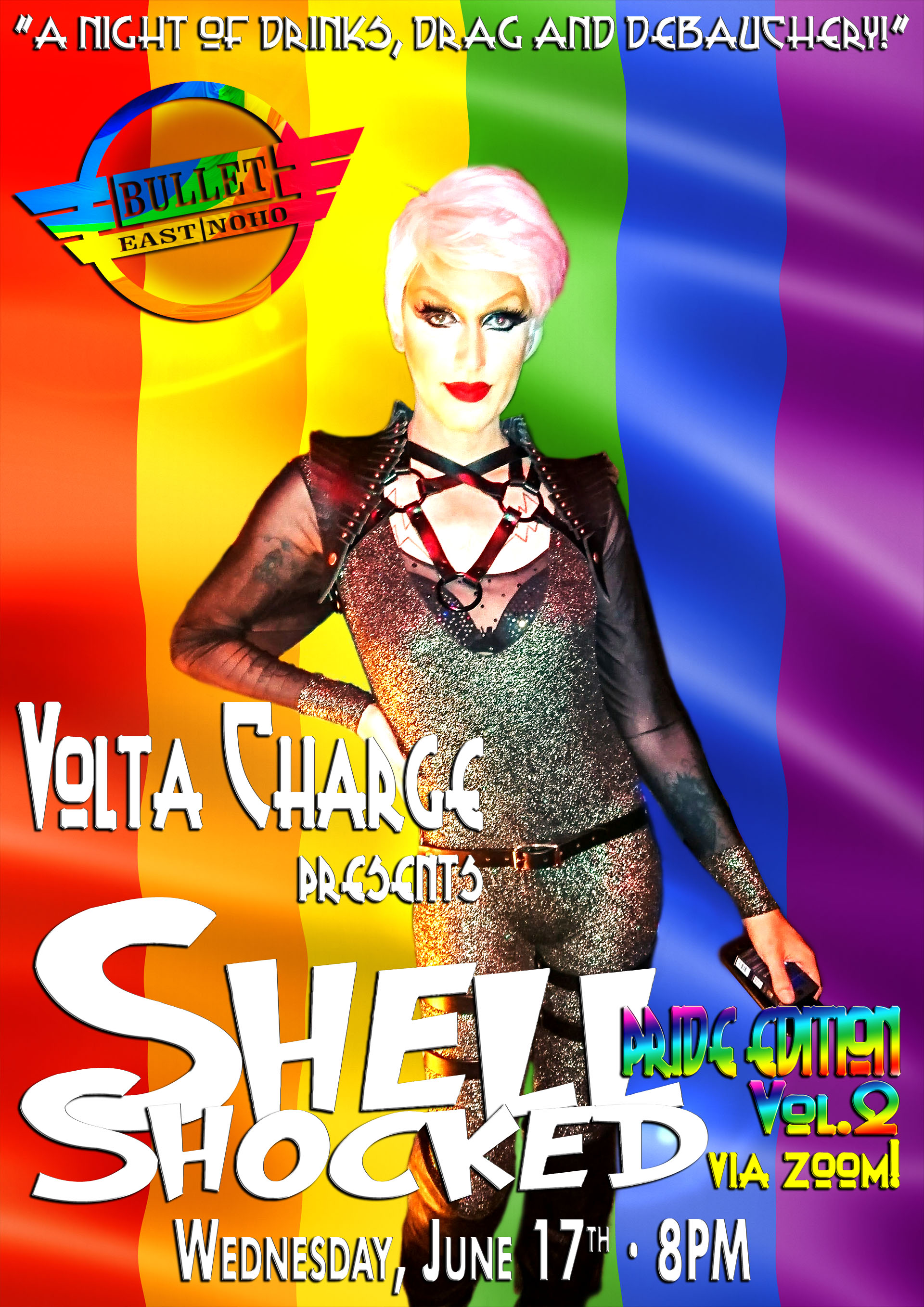VOLTA CHARGE Presents SHELL SHOCKED PRIDE EDITION ONLINE: Wednesday, June 17, 2020 at 8:00 PM via ZOOM!