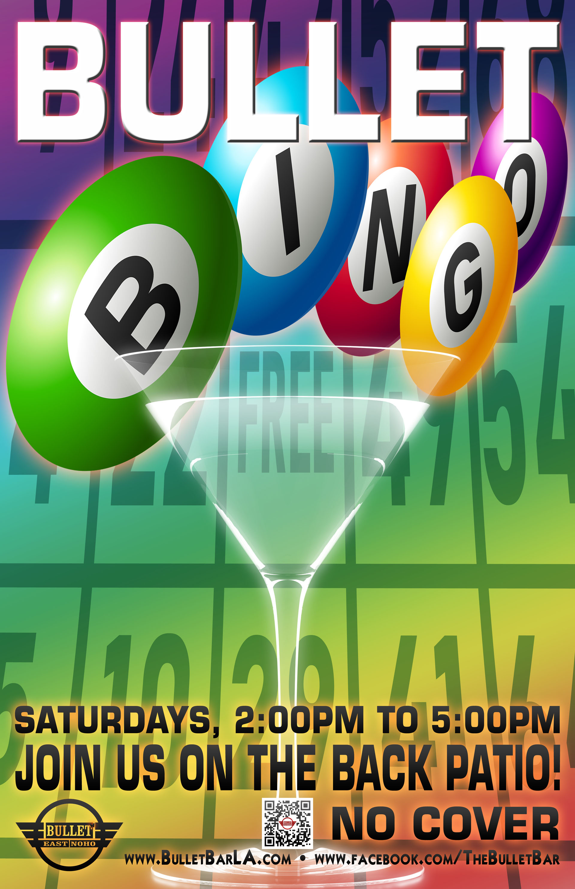 The Bullet Bar Presents BULLET BINGO: Saturdays at 2:00 PM on our back patio! No cover.